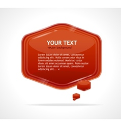 abstract speech bubble red vector image