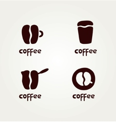 Abstract symbols of creative coffee vector image