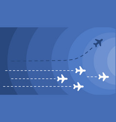 Airplanes on a blue sky vector