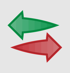 Arrows in two directions vector