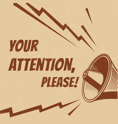 Attention please poster with voice vector