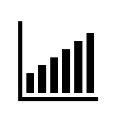 Bar graph icon vector