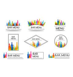 bar menu design collection set badges vector image