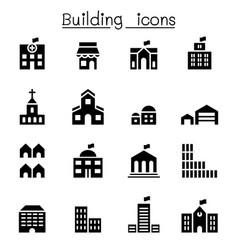 basic building icon set vector image