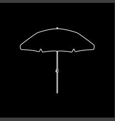 beach umbrella white color icon vector image