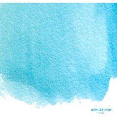 Blue watercolor squarer background vector