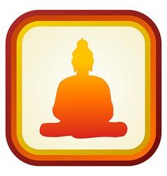 Buddha silhouette ilustration vector