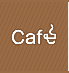 business card coffee label vector image