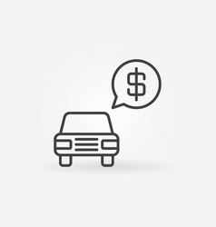 car price concept icon vector image