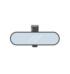 Car rear view mirror vector