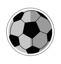 Cartoon football ball sport play vector
