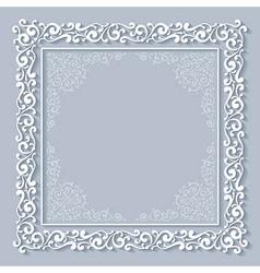 Chriasmas ornate frame vector