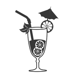 Cocktail drink liquor isolated design vector