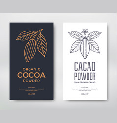 Cocoa package template vector