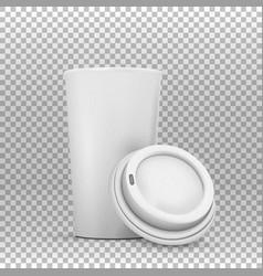 coffee cup mockup vector image