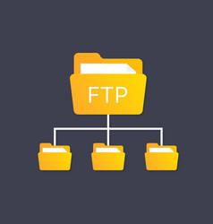 Color ftp protocol simple icon concept of vector