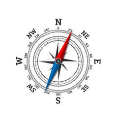Compass wind rose icon isolated on white vector
