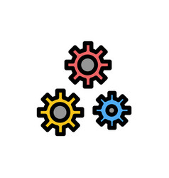 Configuration gears preferences service flat vector