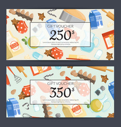 cooking groceries discount or gift card vector image