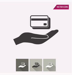 credit card - icon vector image