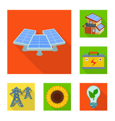 Design of solar and panel sign collection vector