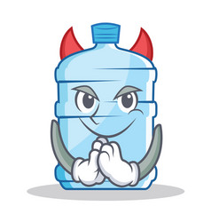 Devil gallon character cartoon style vector