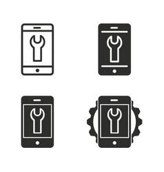 digital interaction icon set vector image