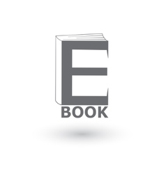 E-book icon logo vector