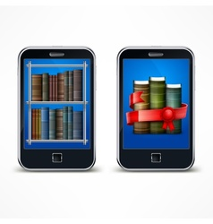 Electronic reader vector image