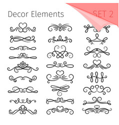 elegant page dividers vector image