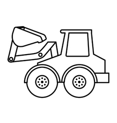 excavator isolated icon design vector image
