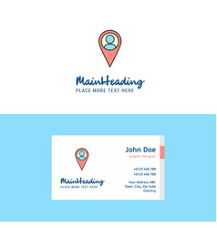 flat location logo and visiting card template vector image