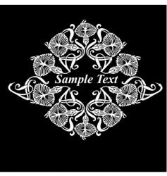 flower heraldry vector image