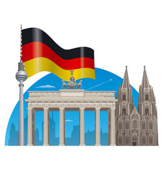 german landmarks vector image