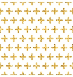 Golden Glitter Geometric Background vector