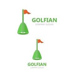 golf club logo template vector image