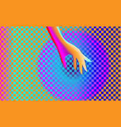 gradient background texture with elegant hand girl vector image
