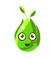 green nature element egg-shaped cute fantastic vector image
