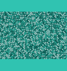 green turquoise mosaic pixel seamless pattern on vector image
