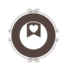 Heart seal stamp vector