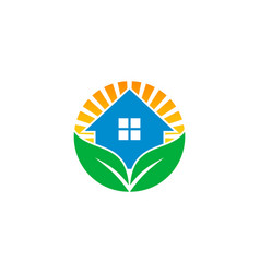 Home wellness logo icon design vector