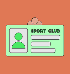 icon in flat design personal card sports club vector image