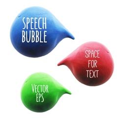 Icon of plasticine speech bubble vector image