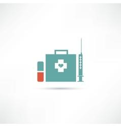 items medicine icon vector image vector image