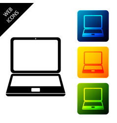 laptop icon isolated on white background computer vector image