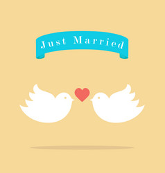 love wedding birds vector image