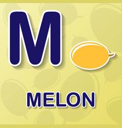 Melon alphabet background vector