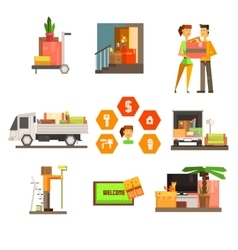 Moving and Repair Web Icon Set vector