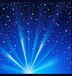night sky stars effect vector image
