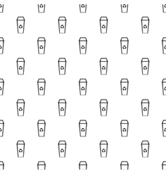 Open trash can pattern simple style vector image